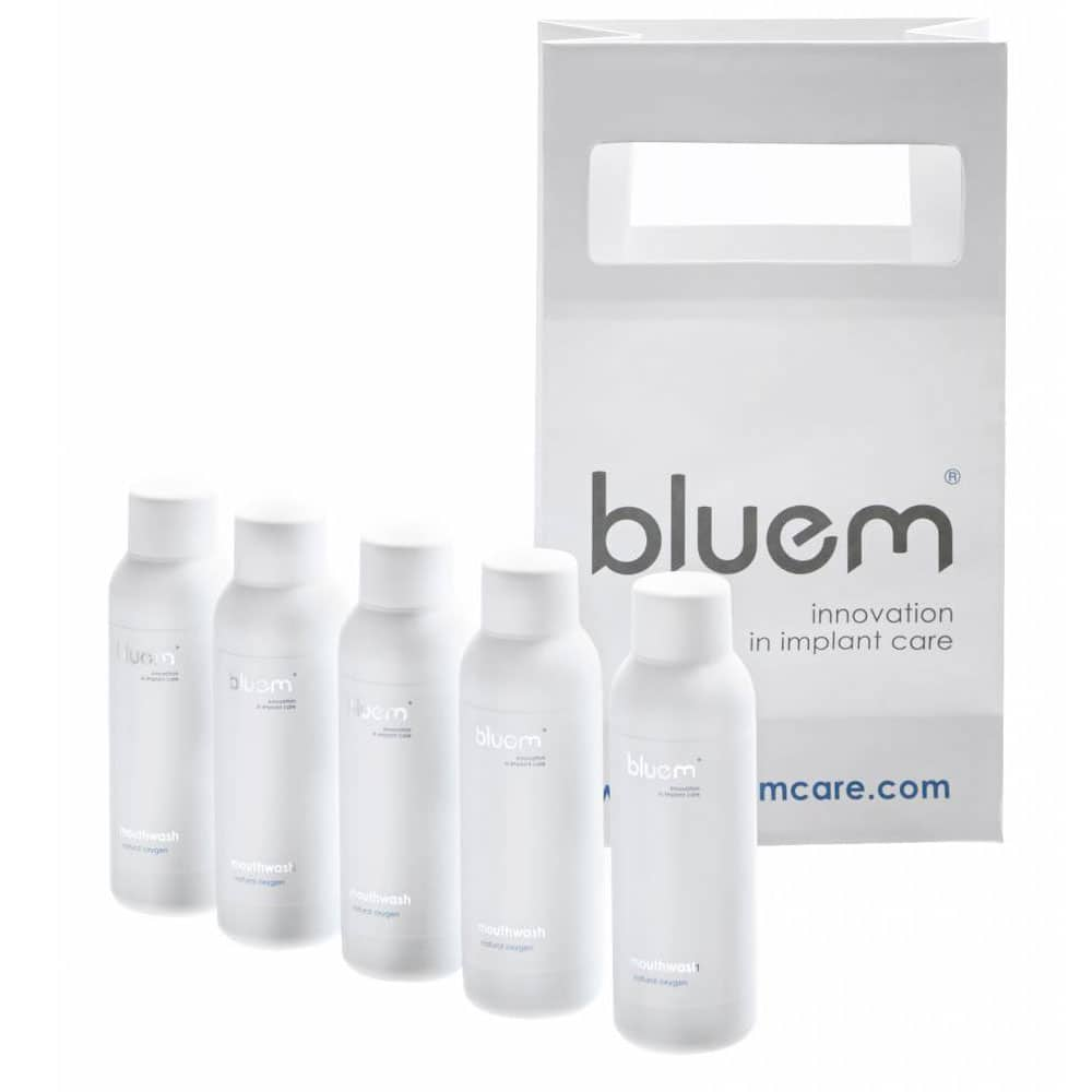 Apa de gura bluem® cu oxigen travel (50 ml)